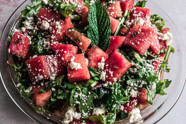 Spiced Watermelon and Feta Salad