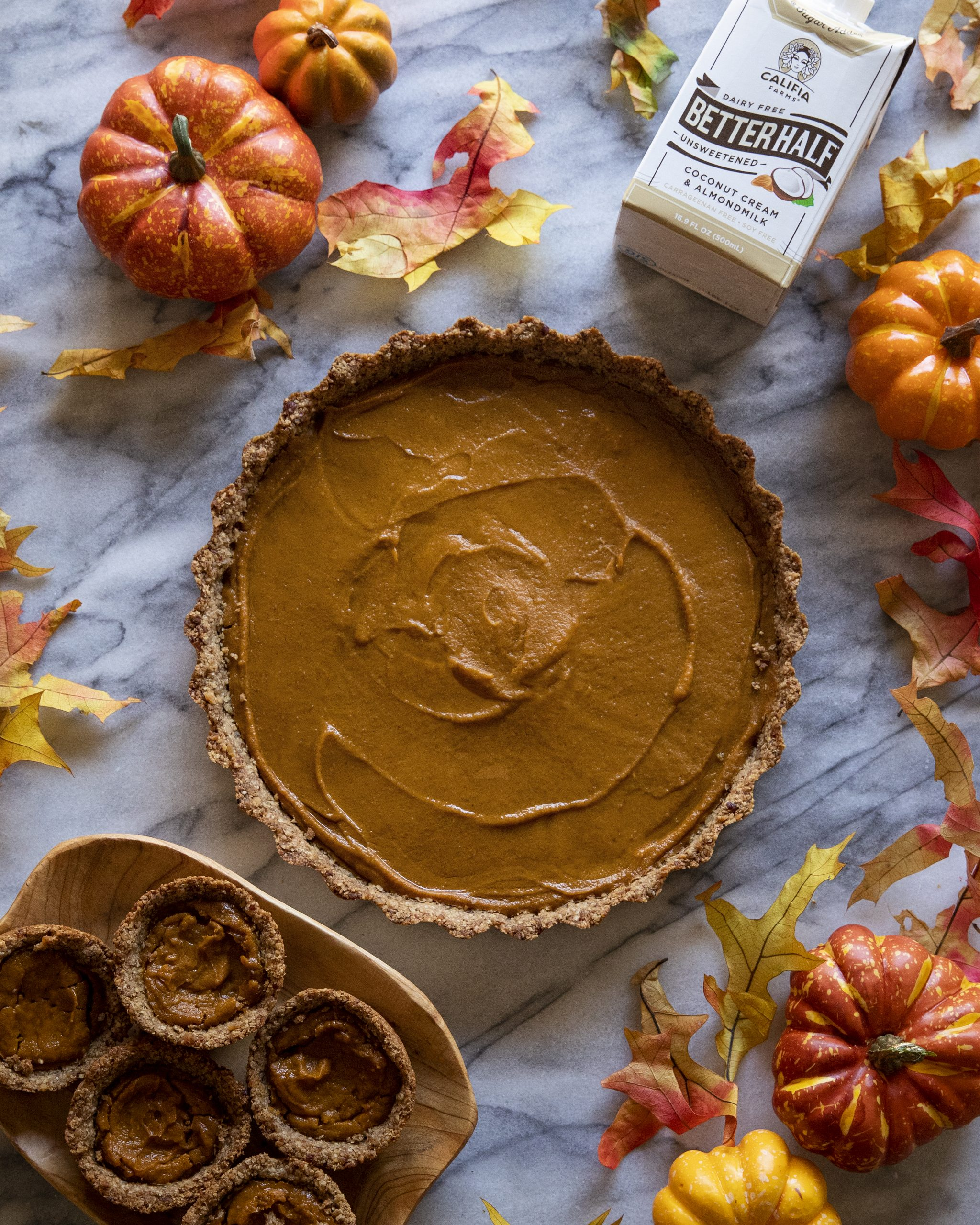 Vegan Pumpkin Pie with Oat Pecan Crust