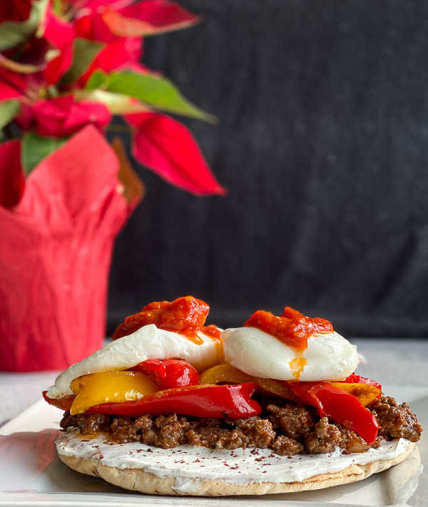 Middle Eastern Eggs Benedict