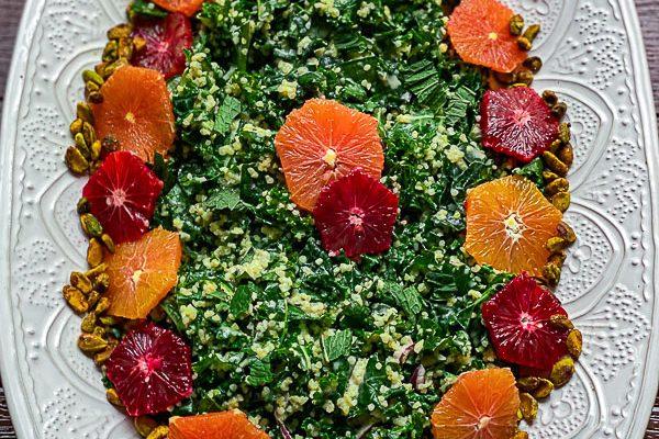 Citrus Tahini Kale Salad