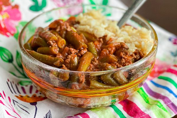 Fasoolia Kuthra (Green Bean Stew)