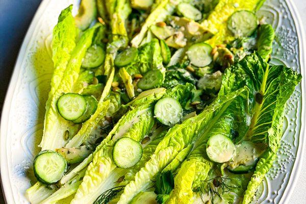 Tahini Ranch Romaine Salad