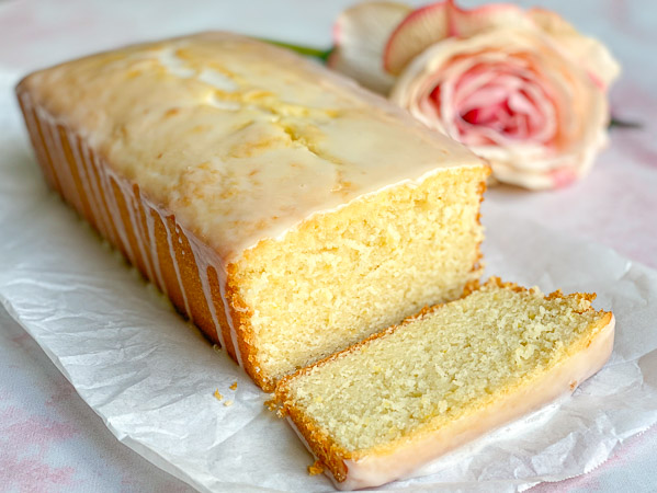 Lemon Rosewater Loaf Cake