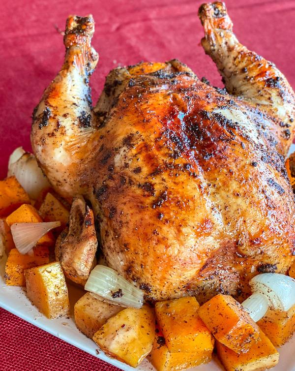 Sumac Orange Roasted Chicken with Butternut Squash